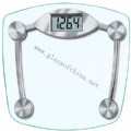 Glass weight scale